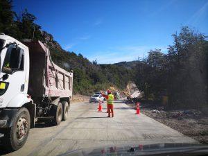 Trabajos en la Carretera Austral Sur