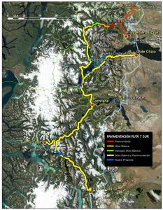Proyecto de pavimentación del sur de Aysén