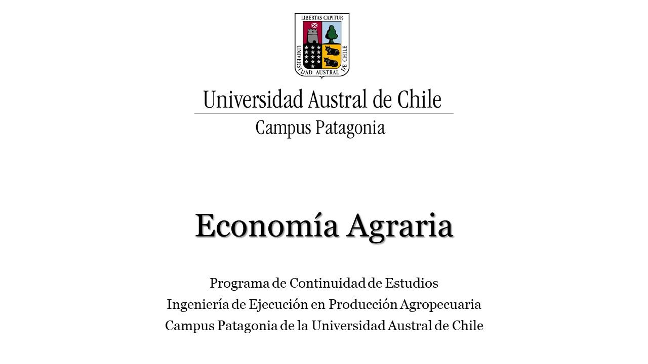 Economía Agraria - Campus UACH Patagonia